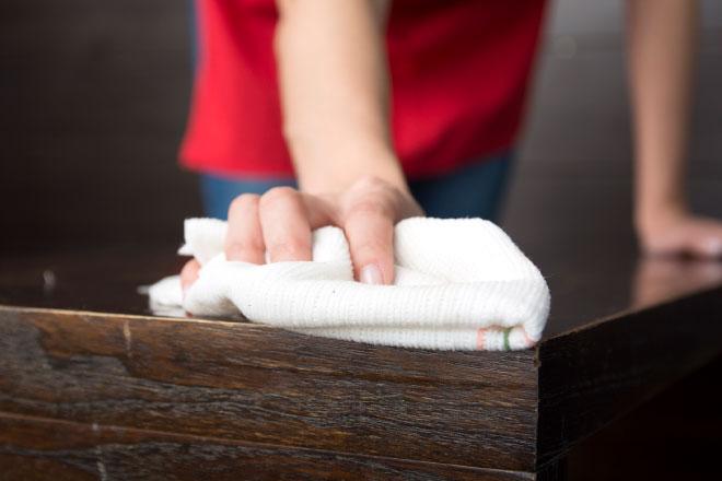 limpieza de madera