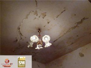 reparacion pintura techo paredes antes